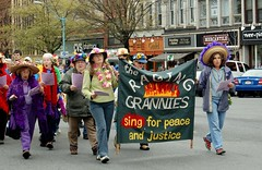 Raging Grannies (Lauren Barkume) Tags: street gay lesbian ma march rainbow northampton noho massachusetts pride parade lgbt 2008 grannies gblt raginggrannies laurenbarkume