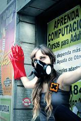 t o X i c (teleoalreves) Tags: street portrait people woman argentina power mask retrato performance v human portraiture planet metropolis contaminacion serie humanos polution teleoalreves toxicosmos