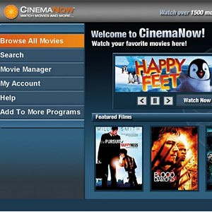 CinemaNow  For Windows Media Center