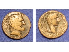 Roman Provincial coin: Syrtica, Sabratha (Baltimore Bob) Tags: coin ancient roman ae augustus provincial punic phoenician sabratha dupondius syrtica baalmelqart