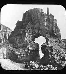 Carsaig Arches on the Isle of Mull. Lots of lovely volcanic rocks. Photograph taken by Valentine & Sons in 1892 (foundin_a_attic) Tags: magic lantern glass slides carsaig arches isle mull lots lovely volcanic rocks photograph taken by valentine sons 1892