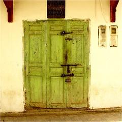 doors............ (atsjebosma) Tags: muur deur kleuren colours green groen ddd atsjebosma ouezzane morocco marokko electricity old ancient
