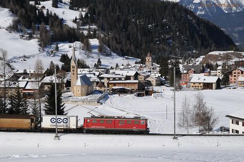 2017. RhB 704 te Bergün