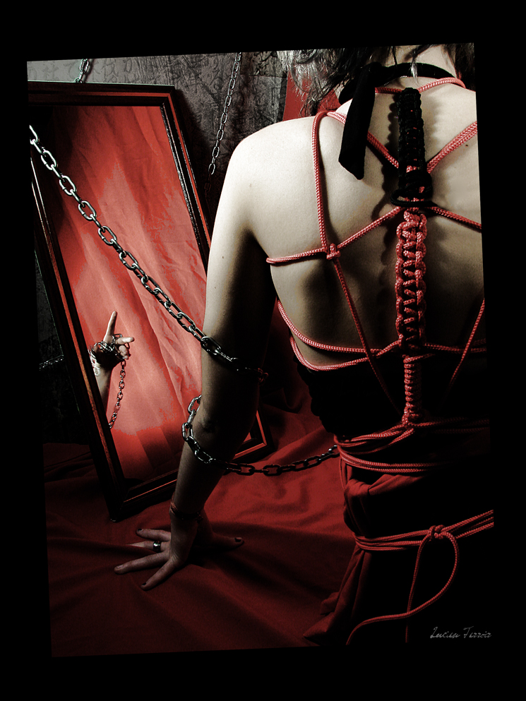 women in self bondage