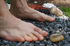 Truth Standing (Tomitheos) Tags: portrait feet rock stone standing words truth toes flickr poetry poem image avatar letters