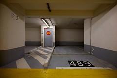 (nobodinoz) Tags: door paris yellow jaune neon parking 5d porte uga carpark ff 489 p3