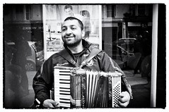 Piano Accordionist (Hart from Golborne) Tags: street photography fuji streetphotography pianoaccordion fujifilmx100 fujix100