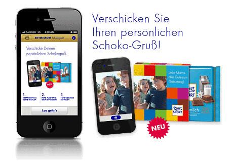 RITTER SPORT Schoko-Gruß App