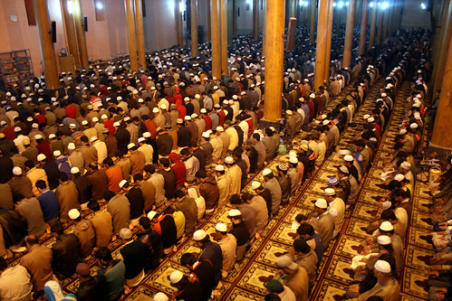 Muslims praying during Shab-e-Qadr