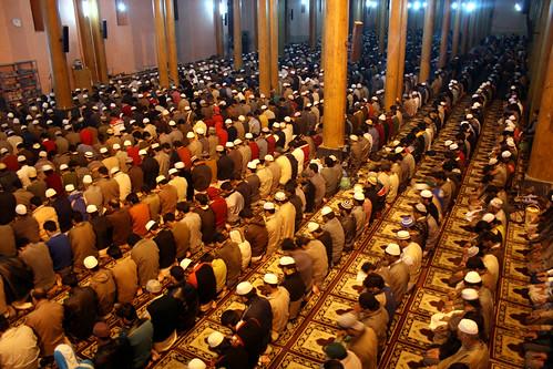 Muslims praying during Shab-e-Qadr