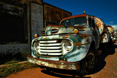 Philgas on Route 66 (jwoodphoto) Tags: newmexico ford truck route66 rust decay tanker fuel cuervo jwoodphoto philgas