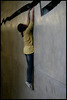 Hanging (Sartori Simone) Tags: uk greatbritain england london girl museum geotagged europa europe tatemodern crack londres hanging museo londra southwark ragazza inghilterra shibboleth ©allrightsreserved dorissalcedo simonesartori top20femmes