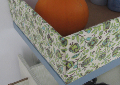 Entryway Shelf Box Closeup