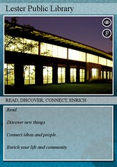 Lester Public Library Trading Card