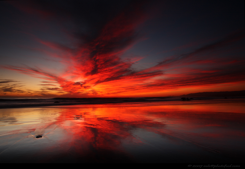 seascape twilight sky cloud beach reflection santa barbara california photofool