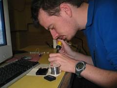 Pete soldering
