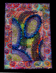 Funky Fugus-2007 (creativechick) Tags: wow beads embroidery funky fungus fiberart textileart creativechick womenartists