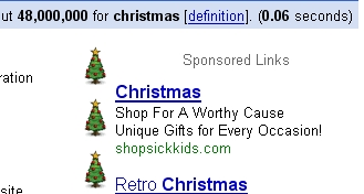 Google AdWords Christmas Theme