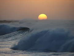 The Sun Sets Over Turbulent Seas - Turtle Bay (Kevin & Kathy) Tags: ocean sunset water beautiful hawaii waves pacific oahu crashingwaves turbulent coolshot eveningsurf supereco