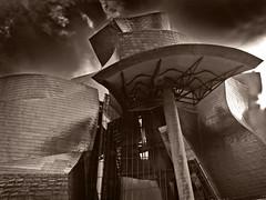 Guggenheim  Bilbao (La Zirenetta) Tags: spain perfect photographer bilbao artmuseum frankgehry basquecountry italians the smrgsbord bwdreams guggenheimmuseumbilbao mywinners favemegroup4 goldstaraward