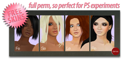 4 Free skin textures for PS experimenting