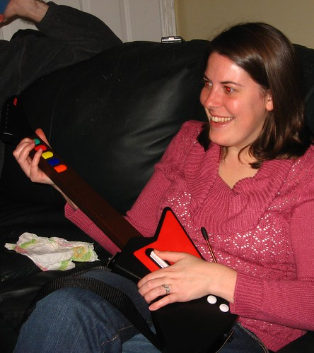 me playing guitar hero 1