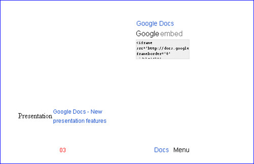 Google Docs Embedded Presentation Without Javascript or Images