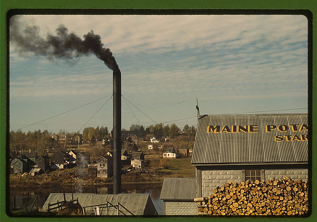 A starch factory along the Aroostook River, Caribou, Aroostook County, Me. (LOC)
