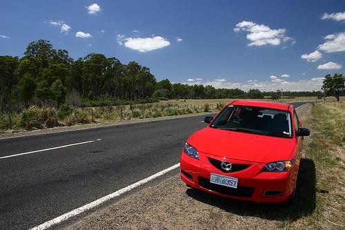 My Tassie Friend, the Mazda 3, brand new!