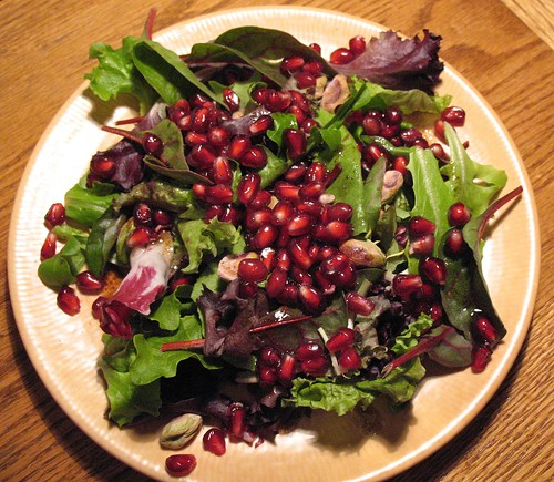pomegranate & pistachio salad
