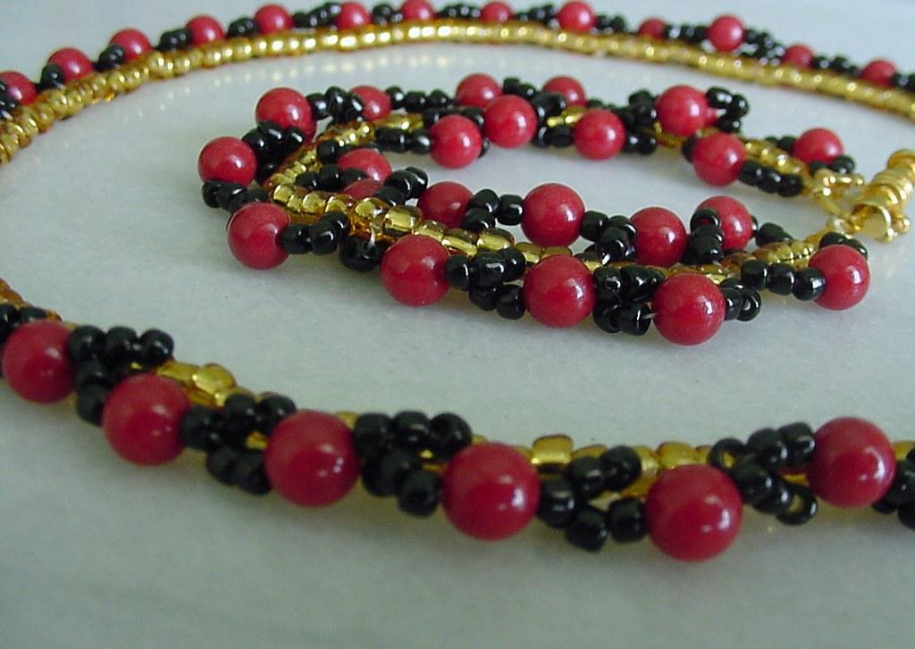 Ladybug- Necklace and Bracelet