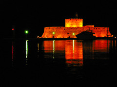 Fortress of St. Nicholas - Rhodes Greece (pantherinia_hd Anna A.) Tags: travel lighthouse nova night reflections island mediterranean aegean medieval greece stnicholas fortress rhodes vacations soe rodi breathtaking  goldenglobe blueribbonwinner   goldenmix  golddragon abigfave anawesomeshot superbmasterpiece diamondclassphotographer ysplix eperke platinumheartaward  betterthangood flickrestrellas hccity  novaphoto     mygearandme mygearandmepremium