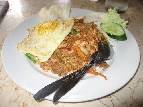 My favorite - Nasi Goreng w/chicken (Ayam)