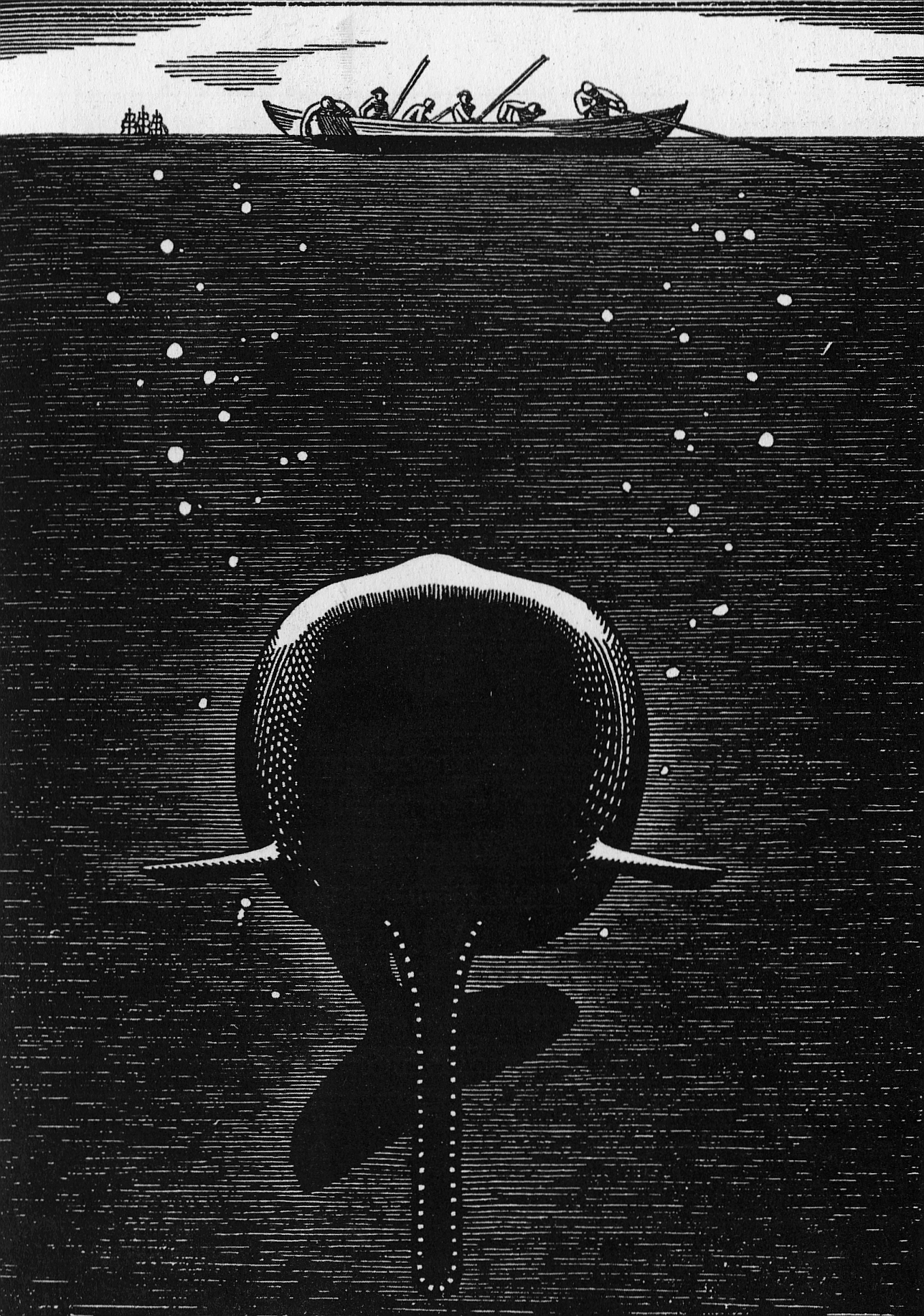 Rockwell Kent, Whale Beneath the Sea