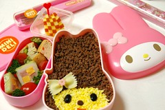 my-melo' soboro- bento (mk family) Tags: school girls cute lunch kawaii bento lunchbox obento   mymelody mymelo