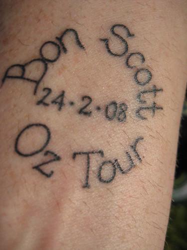 bon scott tattoo