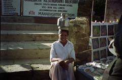 posing for money (Jennifer Kumar) Tags: bombay mumbai india1998 negativescanelephantaisland