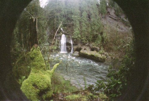 Fisheye waterfall