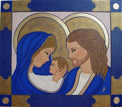 SACRA FAMILIA CM 70X80 (vittoriasalati) Tags: colore arte famiglia blu maria madonna sacra oro legno tavola icona vittoria immagine bambino dipinto salati inciso sgiuseppe realizzatoamano ritoccatoaolio