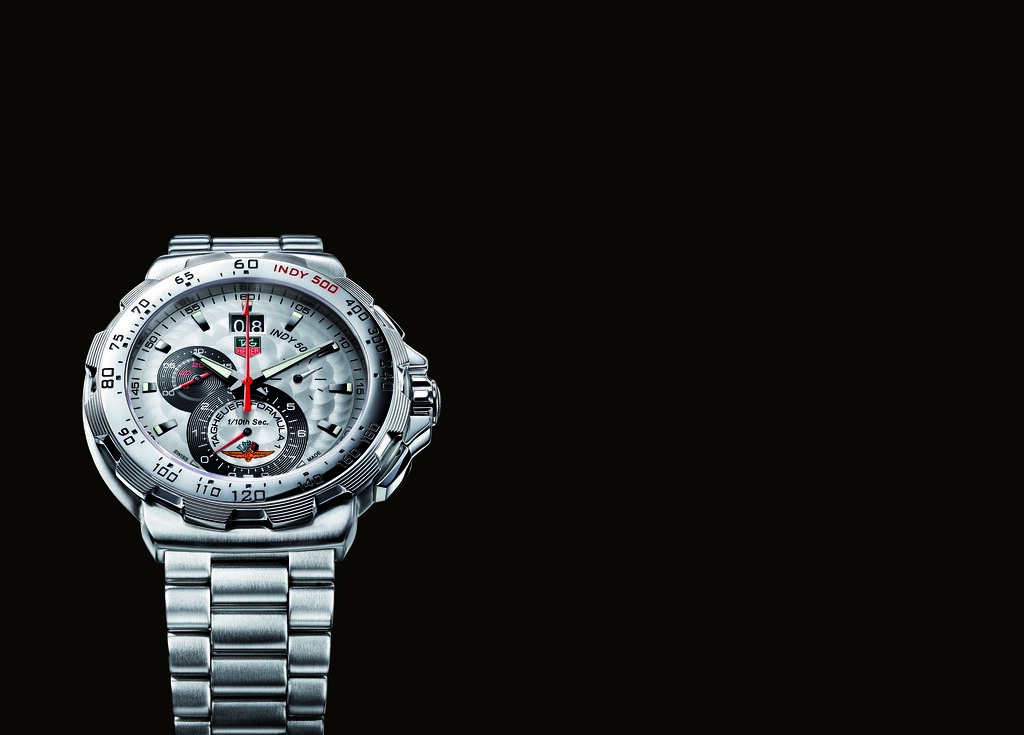 Baselworld 2008: New TAG Heuer Formula 1 Grande Date Chronograph INDY 500