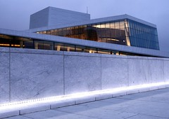 Evening at the Opera (-nocchio) Tags: blue light oslo norway architecture theater fjord operahus bjrvika osloopera top25blue