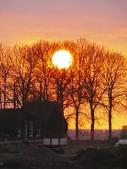 zonsondergang (liesje-73) Tags: trees sunset sky sun tree netherlands evening countryside zonsondergang bomen nederland boom april avond lucht zon kampen overijssel platteland zwartendijk