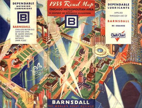 Barnsdall World's Fair Map, 1933