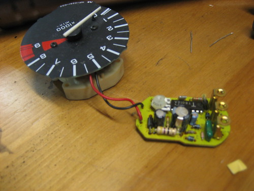 Pete\'s Tacho with new resistor