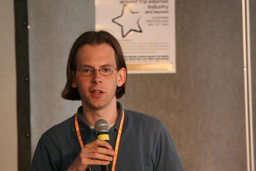 Martin Roell speaking at Going Solo (Lausanne, May 16th 2008)