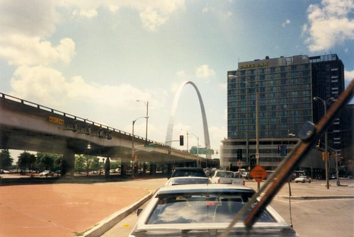 St. Louis Gateway Arch (going from Riverport Amphitheatre, Maryland Heights, Missouri Grateful Dead shows -> Soldier Field, Chicago) Summer 1995