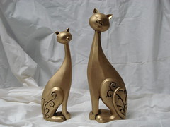 Casal de Gatos (Digo Pessoa) Tags: bonecas arte afro artesanato imagens decoração gesso pinturas africanas decorativo