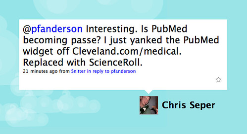 Tweet: Is PubMed Passé?