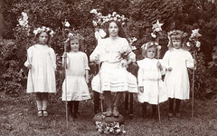 Queen of the May (lovedaylemon) Tags: girl vintage found image edwardian queenofthemay