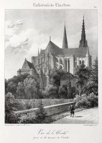 Chartres03- Vista del Abside tomada desde la terraza del obispo